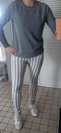 Spodnie w pasy Amisu 36 S rurki