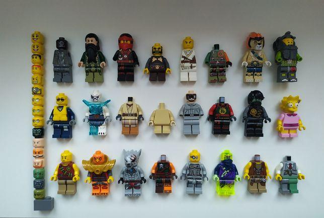 LEGO minifigurki główki części Star Wars Ninjago