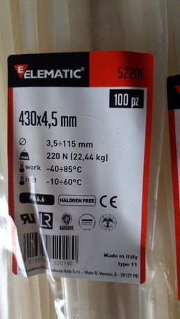Хомуты стяжки пластиковые Elematic (Италия)