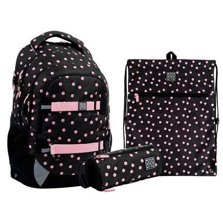 Школьный набор рюкзак  пенал  сумка Wonder Kite Polka Dots WK21-727M-1