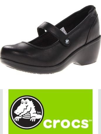 Crocs кожаные туфли кроксы