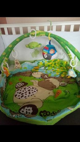 Развивающий детский коврик Веселая ферма Canpol  + мяч в подарок