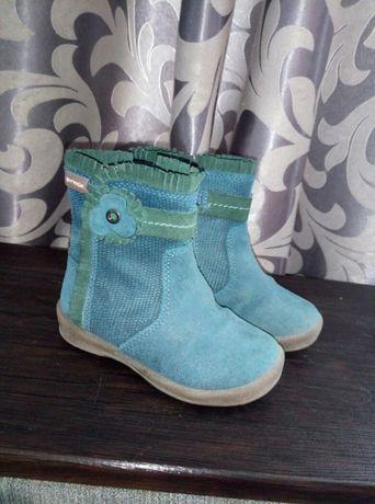 Garvalin полностью кожаные демисезонные сапожки,ботинки для девочк