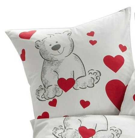 "Наволочка для подушки "" Закохане ведмежатко ""."
