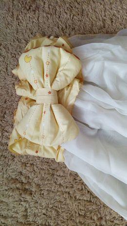 Защита в кроватку, балдахин, карман для мелочей, одеяло, подушка