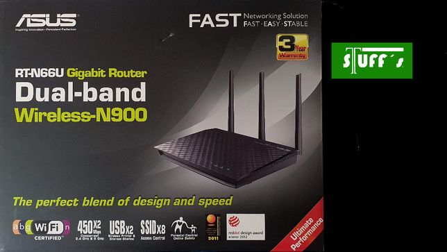 Router ASUS RT-N66U Dual-Band Wireless-N900