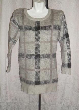 Теплый свитер барберри