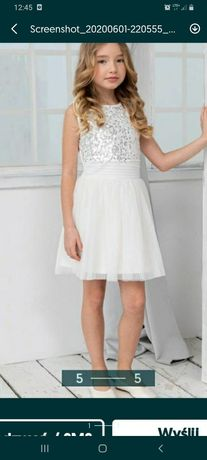 Sukienka r. 140-140. Promocja