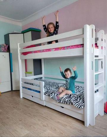 Акция Новинка двухъярусная кровать в стиле минимализма вашим деткам
