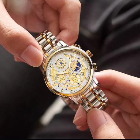 (PROMOÇÃO) Relógio WishDoit Masculino em Aço Inoxidável (NOVO)