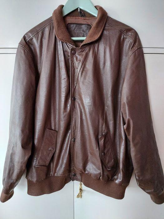 Skórzana brązowa kurtka na suwak Ciechanów - image 1