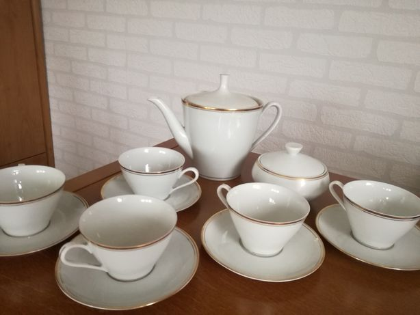 stary porcelanowy zestaw serwis do kawy Ćmielów