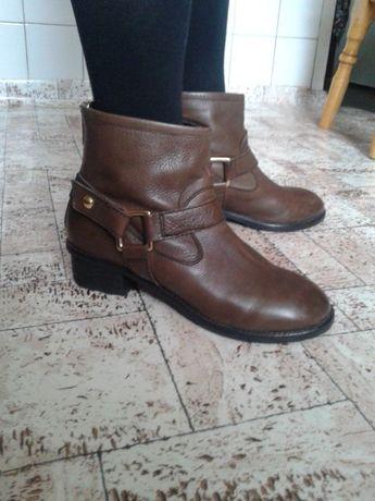 Натуральные кожаные ботиночки Asos