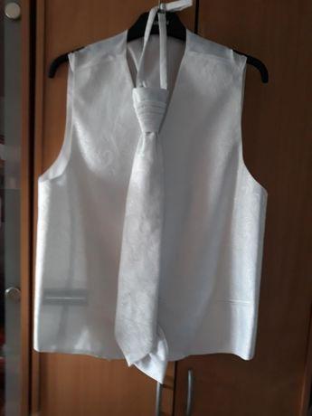 Kamizelka z krawatem slubna