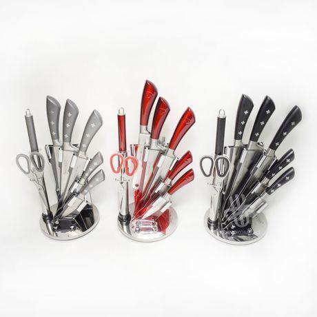 Набір металевих ножів на підставці  Royalty Line 8 предметів