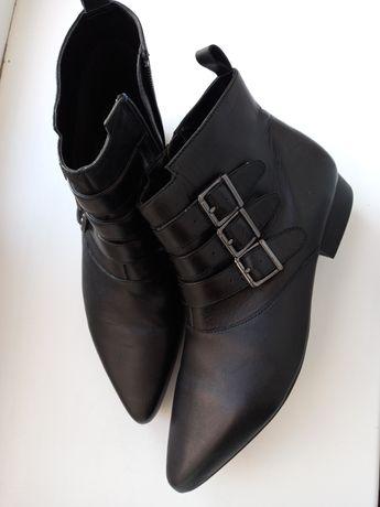 Mango ботиночки новые 38 р кожаные