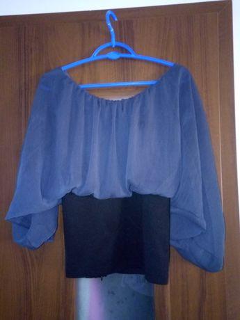 Bluzka szara, elegancka , nietoperz
