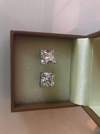 Kolczyki srebrne wkręty