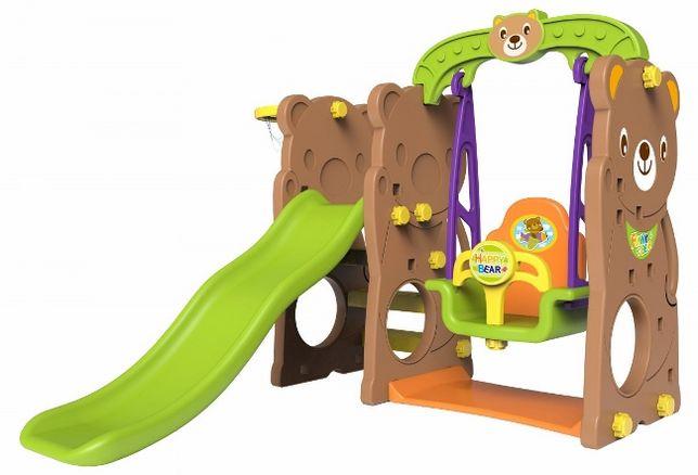 Plac zabaw dla dzieci Huśtawka + Zjeżdżalnia Miś