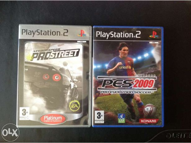 Pes 2009 e need for speed prostreet playstation 2