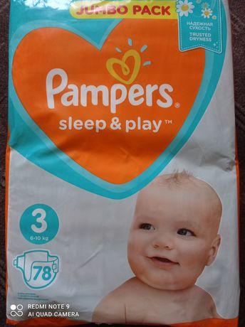 Pampers sleep&play 3, 6-10кг (78+72) 150 штук