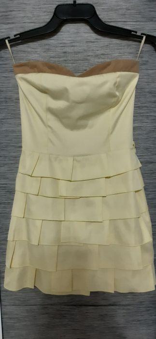 Sukienka żółta/kanarkowa z falbankami Ozorków - image 1
