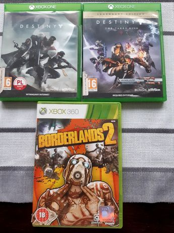 Destiny 1, Destiny The Taken King, Borderlands 2, XBOX 360.