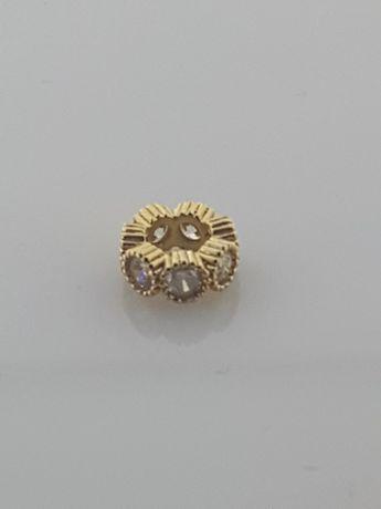 Złoty element charms na bransoletkę Pandora 14k.Nowy (263)