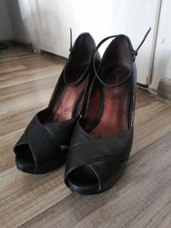 Czarne czółenka sandały Nine West 8M 38.5 39