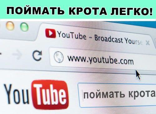 """""""Как избавиться от КРОТОВ """" Ютуб ИНСТРУКЦИЯ"""
