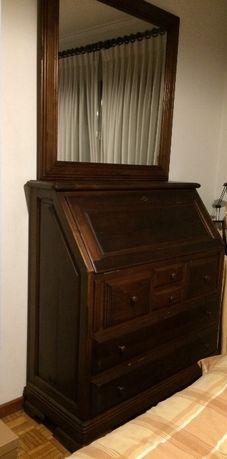 Cómoda/escrivaninha em madeira maciça