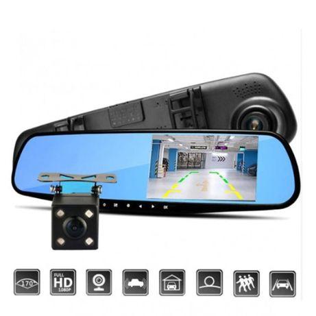 Видеорегистратор-зеркало DVR FULL HD Ночная съемка (2 камеры) Опт Дроп