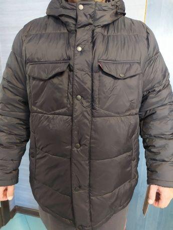 LEVIS модная куртка пуховик левайс черный