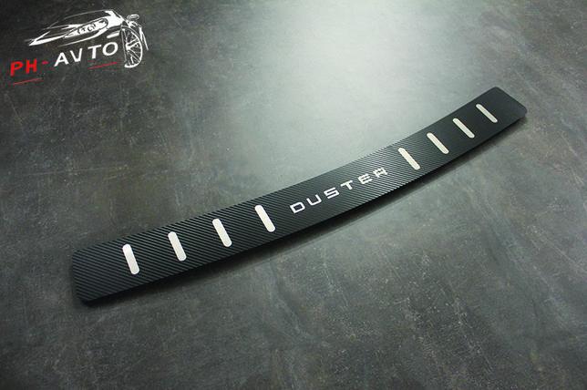 Накладка на бампер Renault Duster до 2018 г.в. Нержавейка В Карбоне