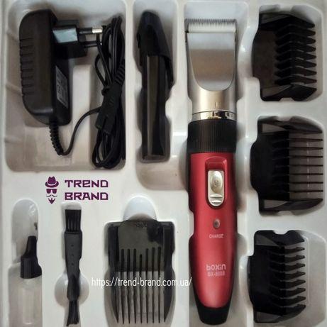Машинка для стрижки волос со сменными насадками Boxin BX-8088 2аккумул