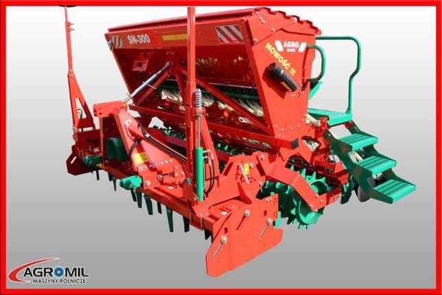 Agregat uprawowo siewny siewnik zbożowy agro-masz ANU 300 + SN 3000