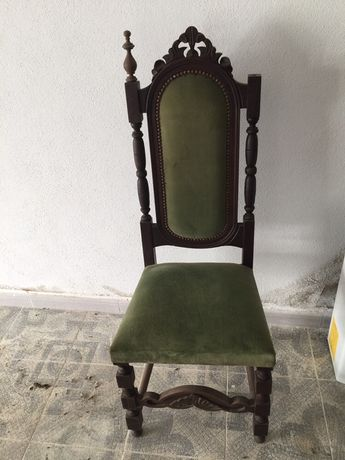4 Cadeiras em veludo - anos 60