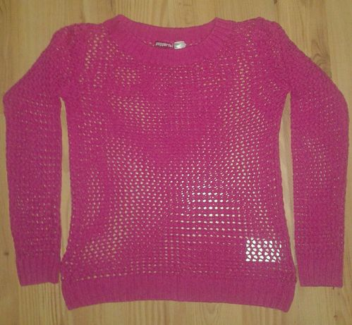Sweterek ażurkowy 146/152 + bluzka gratis