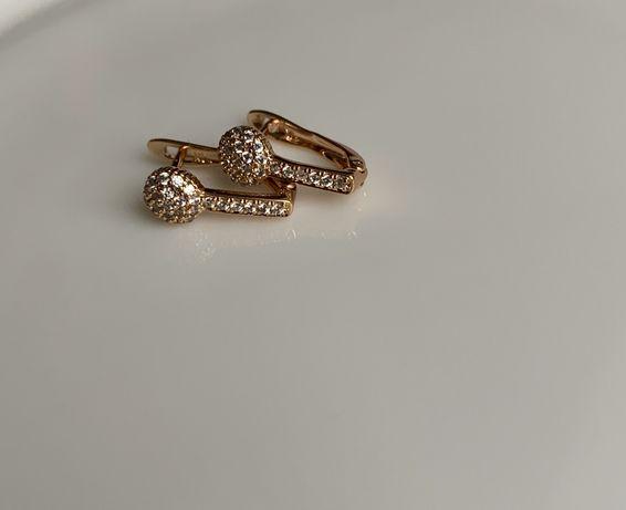 Сережки ( серьги) медичне золото