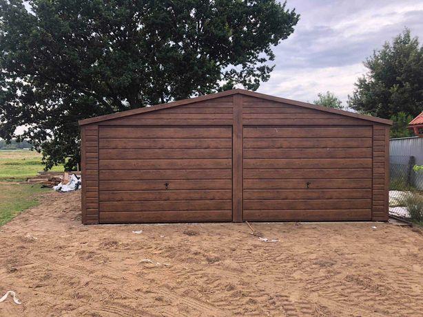 Garaz drewnopodobny 7x7 orzech