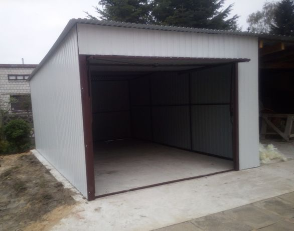 GARAŻ Producent wiaty schowki garaże blaszane blaszaki konstrukcje