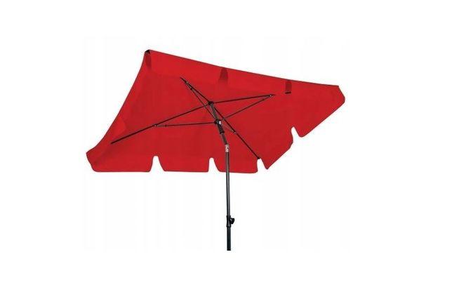 DOPPLER parasol ogrodowy 180x120 NA BALKON mocny, kolor CZERWONY