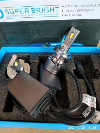 Супер яркие LED светодиодные авто лампы  в фару, в линзу H7 H4