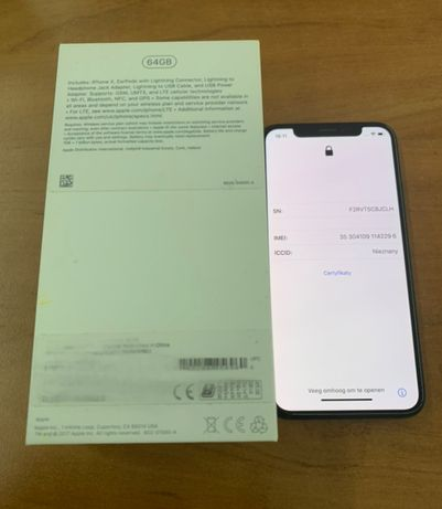 iPhone X 64GB stan idalny