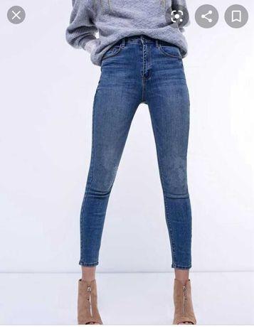Skinny джинсы zara скинни талия высокая посадка джинси