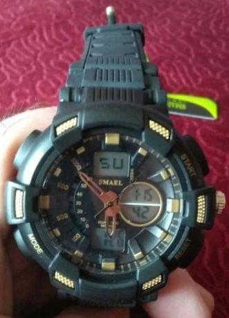 Мужские кварцевые спортивные часы SMAEL 1366B секундомер подсветка