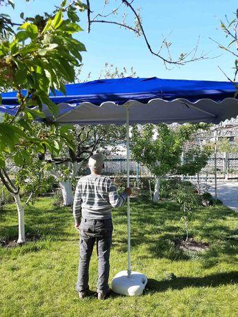 Торговые зонты с усиленной конструкцией2х2, 2х3м,3х3м, и круглые 2-2.5