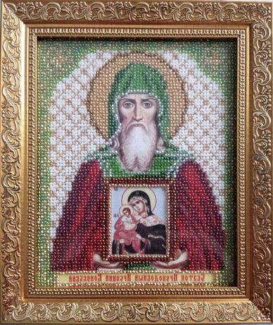 Икона Св.Арсений (ручная работа) бисер