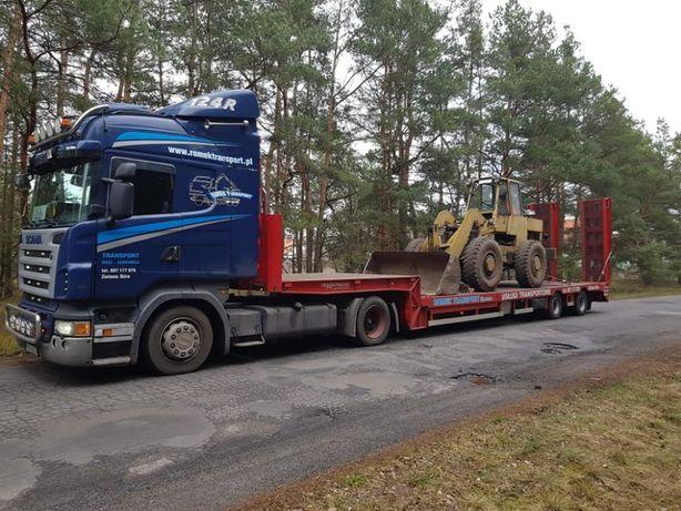 Transport niskopodwoziowy , transport maszyn, transport urządzeń