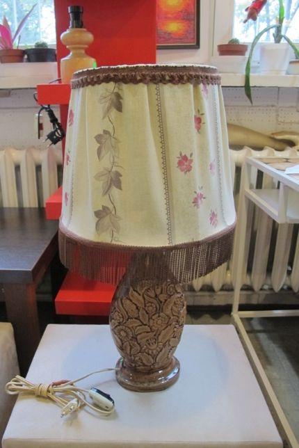 Lampa porcelit abażut prl